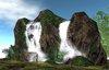 Realistic waterfall wall 2011 vol.1 - COPY - 10prim waterfall!!