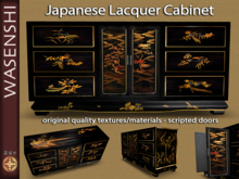 Japanese Black Lacquered Cabinet