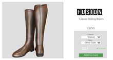 [FUSION] Xander Classic Riding Boots. - Walnut - Maitreya