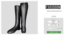 [FUSION] Xander Classic Riding Boots. - Black - Maitreya
