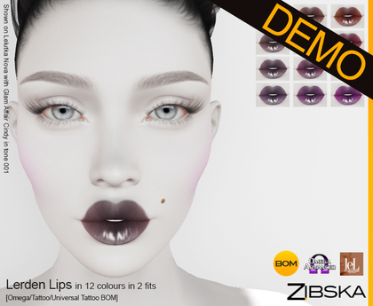 Zibska ~ Lerden Lips Demo [omega applier/tattoo/universal tattoo BOM]