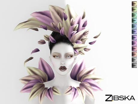 Zibska ~ Lerden Color Change Headpiece and Shoulders