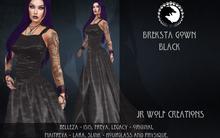Breksta Gown Black ADD ME (JR Wolf Creations)