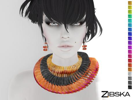 Zibska ~ Deja Color Change Earrings and Collar