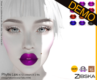 Zibska ~ Phyllis Lips Demo [omega applier/tattoo/universal tattoo BOM]