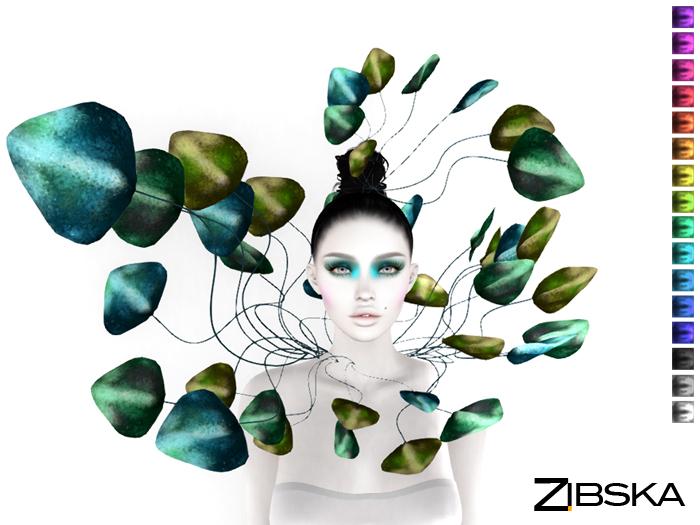 Zibska ~ Phyllis Color Change Headpiece and Collar