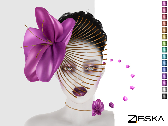 Zibska ~ Ersa Color Change Headpiece and Collar
