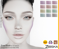 Zibska ~ Ersa Blush in 12 colors with omega applier, tattoo and universal tattoo BOM layers