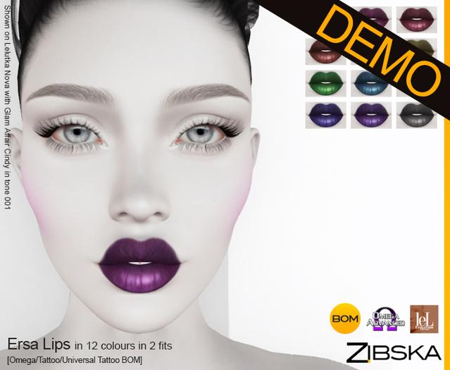 Zibska ~ Ersa Lips Demo [omega applier/tattoo/universal tattoo BOM]