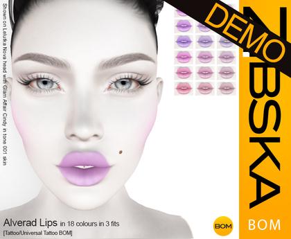 Zibska BOM Pack ~ Alverad Lips Demos [tattoo/universal tattoo BOM]