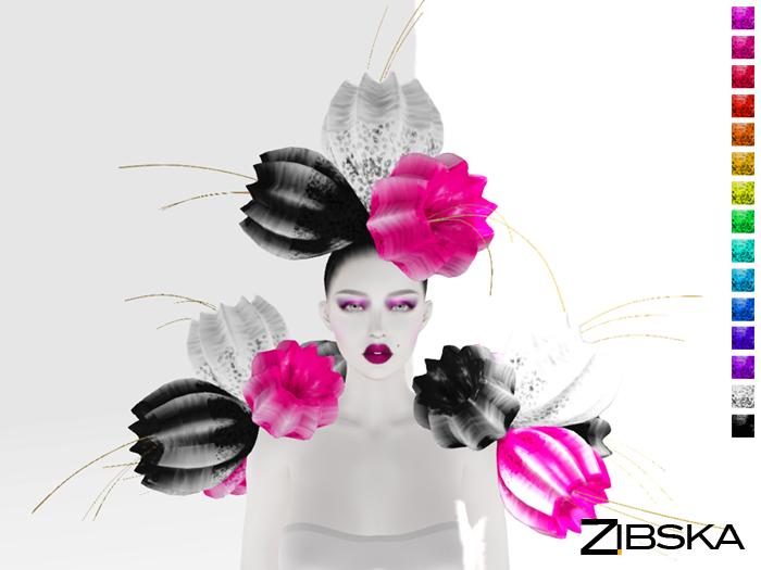 Zibska ~ Cintia Color Change Headpiece and Shoulders