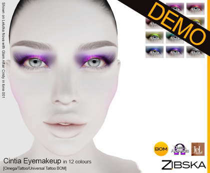 Zibska ~ Cintia Eyemakeup Demo [Omega applier, tattoo & universal tattoo BOM]