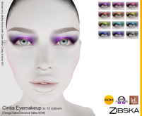 Zibska ~ Cintia Eyemakeup in 12 colors with Omega appliers, tattoo and universal tattoo BOM layers