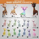 SEmotion Libellune Baby Giraffe Animesh #10 UNCOMMON
