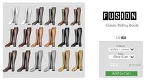 [FUSION] Xander Classic Riding Boots. - FatPack - Maitreya