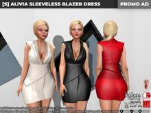 [S] Alivia Sleeveless Blazer Dress Demo
