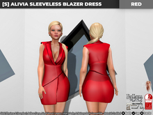 [S] Alivia Sleeveless Blazer Dress Red