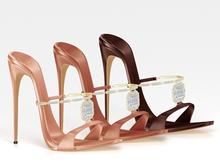 Salvadori - Nude 'MacDowell' Embellished Heels