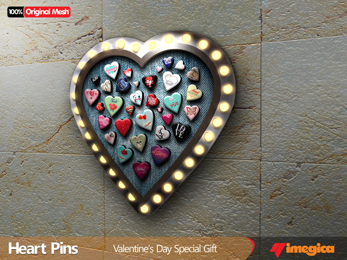 .imegica. Heart Pins - Special Gift