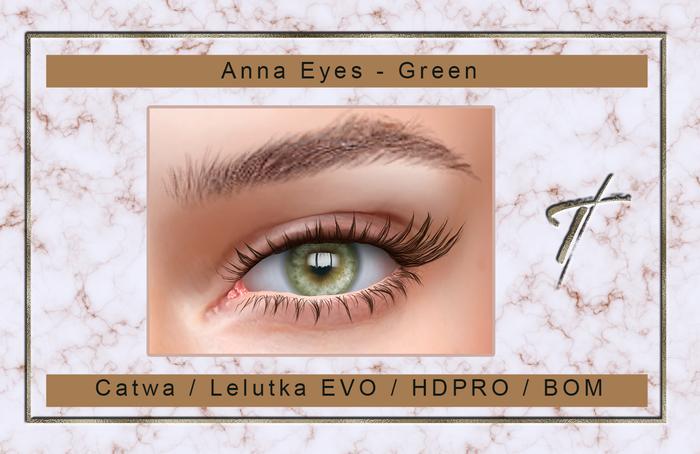 Tville - Anna Eyes *green* for Catwa / Lelutka EVO /  Lel EVO X / HDPRO / BOM