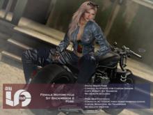 ACT5-604-Female Motorcycle Sit Backwards 2 Pose BOXED