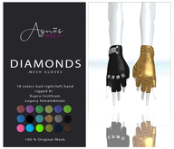 <Agnes> -Diamonds-Mesh gloves