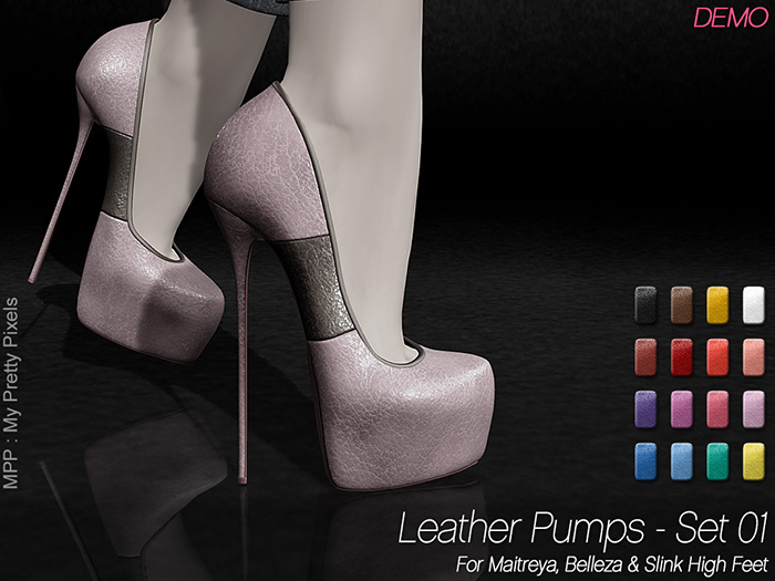 - MPP Mesh - Leather Pumps - DEMO
