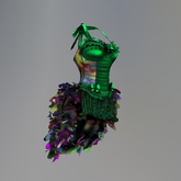 Green Mardi Gras Krewe Maitreya Corset