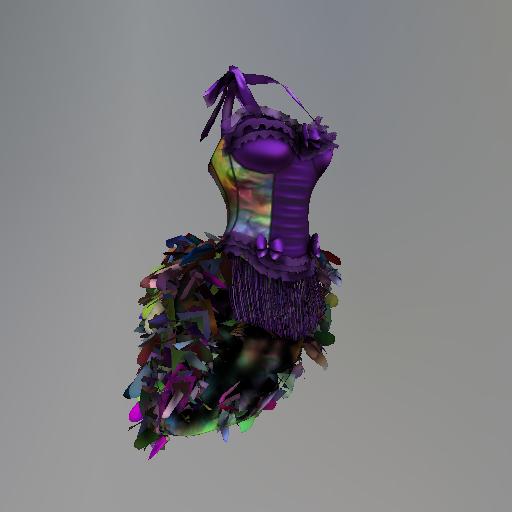 Purple Mardi Gras Krewe Maitreya Corset