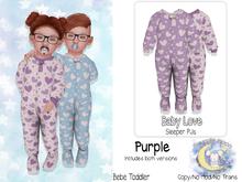{SMK} Baby Love Sleeper | Purple | Bebe Toddler