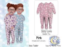 {SMK} Baby Love Sleepers | Pink | Bebe Toddler