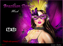 -Lamu Fashion-Mask *Brazilian Dancer* Limited Time Group Gift!