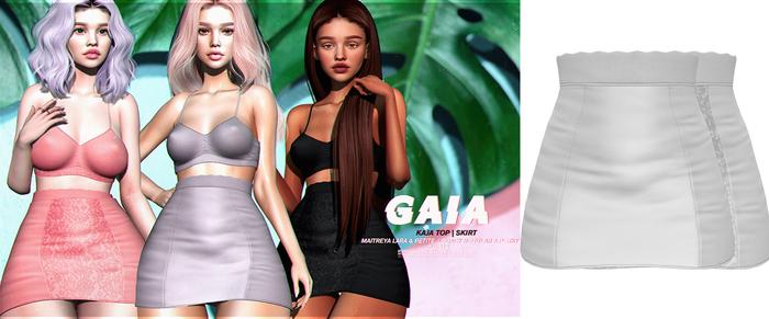 Gaia - kaja skirt//white