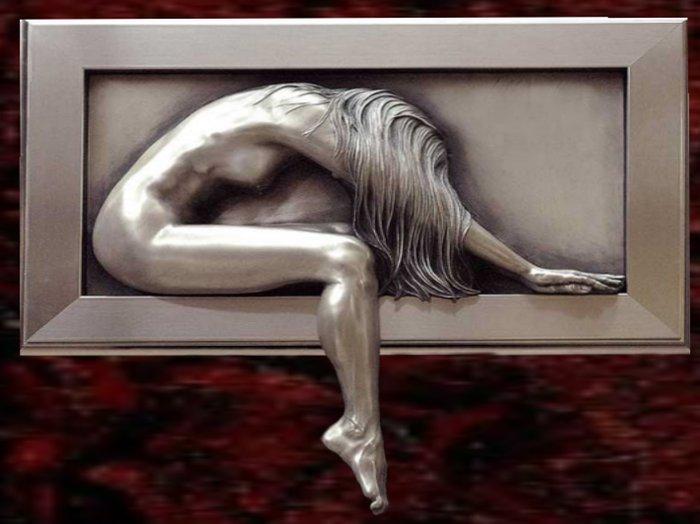 Wall Sculpture Art- Platinum Surrender