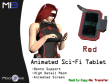 [MB3] Animated Sci-Fi Tablet - Red