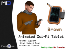 [MB3] Animated Sci-Fi Tablet - Brown