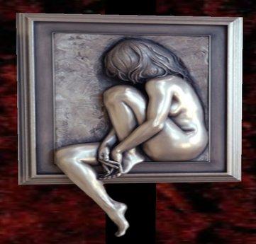 Wall Sculpture Art- Platinum Contemplation
