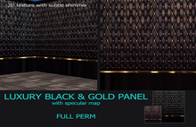 [RoS] Luxury Black Gold Panel Texture Full Perm