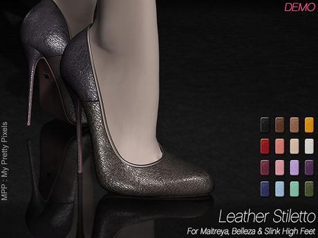 - MPP Mesh - Leather Stiletto - DEMO
