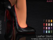 - MPP Mesh - Leather Stiletto - Black