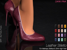 - MPP Mesh - Leather Stiletto - DarkPink