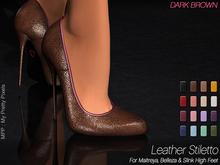 - MPP Mesh - Leather Stiletto - DarkBrown