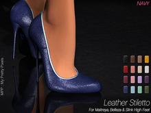 - MPP Mesh - Leather Stiletto - Navy