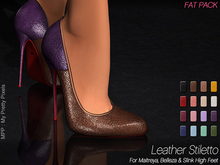 - MPP Mesh - Leather Stiletto - FatPack