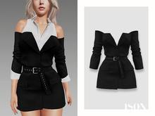 ISON - jodie deconstructed blazer - black