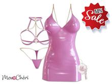 *MC* Lustful / Dress Set / Latex Pink