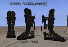 Roman Sandals Black