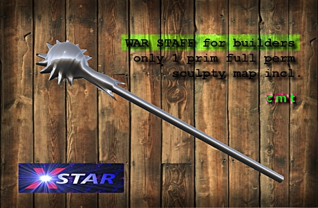 WAR STAFF full perm for weapons builder $$$