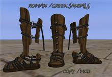 Roman  Brown  Sandals