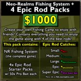 Neo-Realms Fishing Game System + 4 Epic Rod Packs